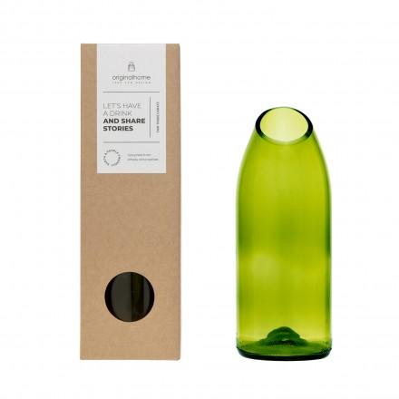 Upcycling-Glaskaraffe grün