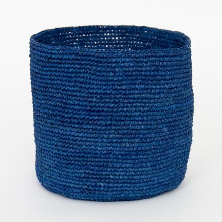 RAFFIA Korb S, blau